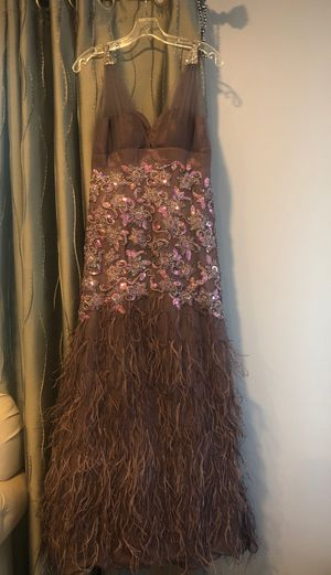 Purple feathered dress size 8 for Sale in Los Angeles, CA