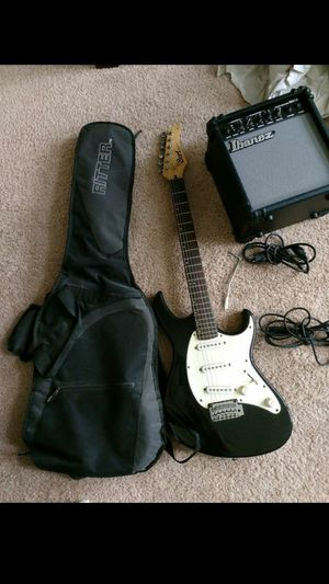 Vintage Cort Electric Guitar with Ibanez IBZ10 amp and Ritter bag. for Sale in Detroit, MI