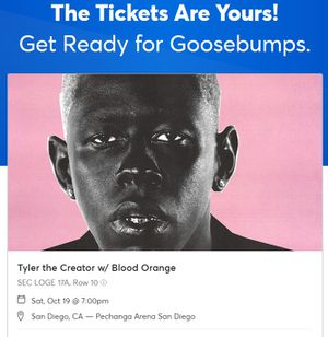Tyler the creator ticket for Sale in San Diego, CA