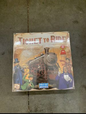 Days of Wonder Ticket To Ride by Alan R. Moon Train Adventure Board Game new Sealed for Sale in Walnut, CA