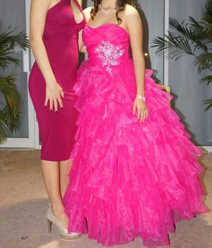 Quinceanera pink dress with tutu for Sale in Miami, FL