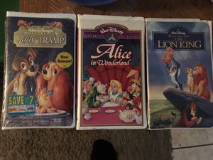 Disney VHS Lion King Alice in Wonderland Lady and the Tramp for Sale in Las Vegas, NV