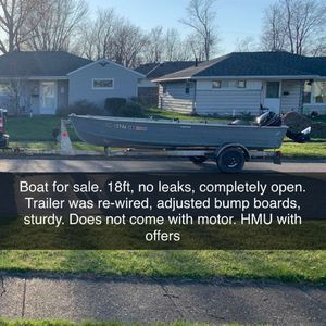 18ft Aluminum Boat for Sale in Sheffield, OH
