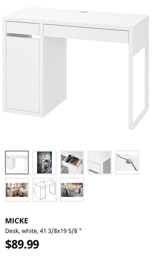 IKEA Micke desk in white for Sale in San Diego, CA