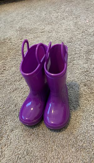 Girls purple rain boots for Sale in Miramar, FL