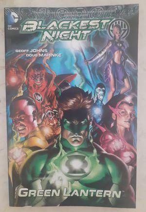 Blackest Night: Green Lantern 2010 Hardcover Book DC Comics. Condition is Like New. for Sale in Pompano Beach, FL