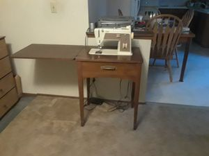 Sewing Machine with Table and set of scissors for Sale in Olympia, WA