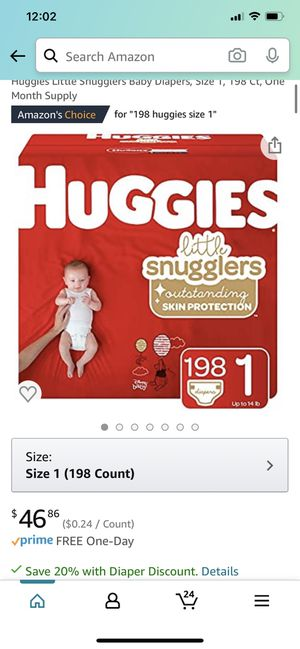 Brand new pack and a half pack of size 1 huggies for Sale in Washington, DC