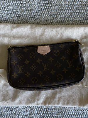 Louis Vuitton Khaki Jacquard Strap with Pochette Accessoires for Sale in Tacoma, WA