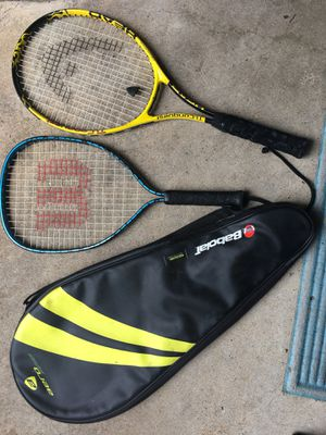 2 Used Tennis Rackets w/ 1 Case - Wilson & Head Brand for Sale in Austin, TX