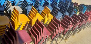 used STACKABLE CHAIRS FOR Adults....each for Sale in Houston, TX