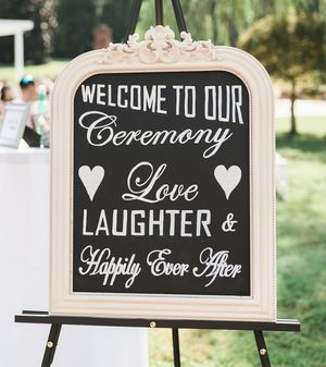 Hand Lettered Wedding Ceremony Chalkboard for Sale in Knoxville, TN