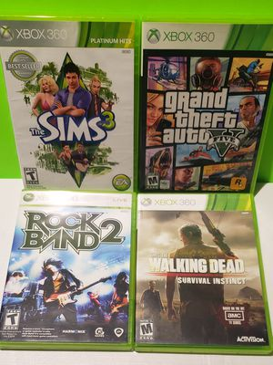 Xbox 360 Game Lot - GTA V + Sims 3 (You get all 4) for Sale in Denver, PA