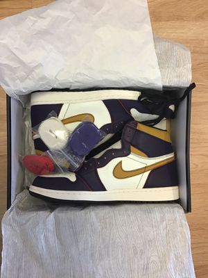 "Jordan 1 High OG SB Defiant ""Lakers"" LA to Chicago Size 13 for Sale in Seattle, WA"