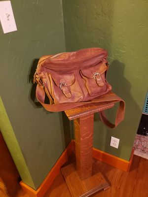 Roots leather messenger bag for Sale in Riverside, CA