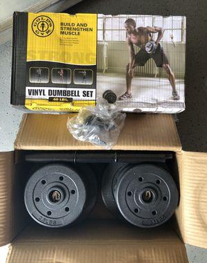 Gold's Gym Vinyl Dumbbell set 40lbs for Sale in Chicago, IL