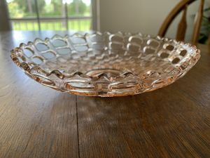 Pink depression glass candy dish for Sale in Alva, FL
