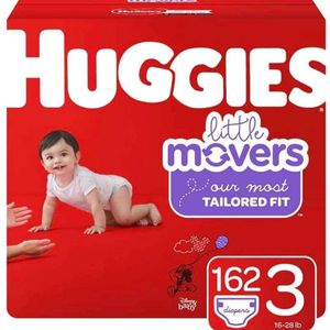 Huggies Little Movers size 3 diapers- pañales for Sale in Downey, CA