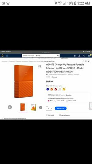 4tb external harddrive for Sale in Springfield, OR