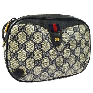 GUCCI GG Shelly Line Cross Body Shoulder Bag Navy Gray PVC Leather for Sale in Henderson, NV