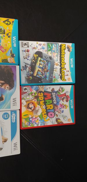 Lot of 5 x WII games Super Mario Zumba Nintendoland Sing party for Sale in Largo, FL