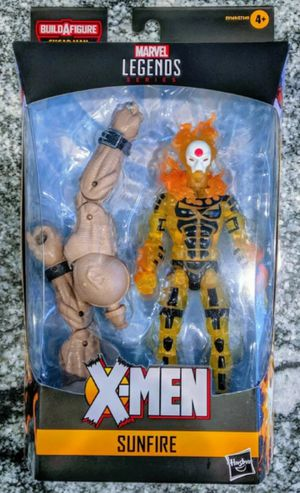 Marvel Legends Age of Apocalypse X-Men Sunfire Collectible Action Figure Toy with Sugar Man Build a Figure Piece for Sale in Chicago, IL