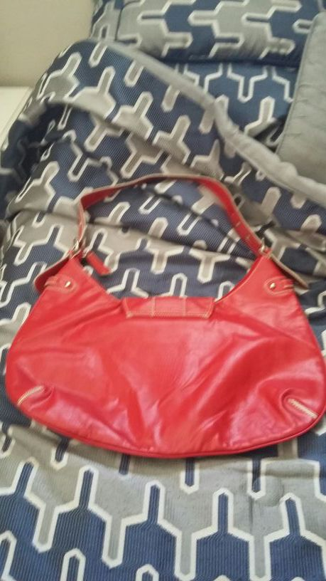 Tommy Hilfigure vintage authentic red leather hobo bag