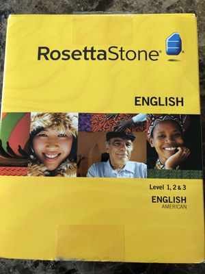 Rosetta Stone English Level 1, 2, & 3 for Sale in Lenexa, KS