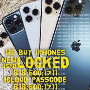 iPhone Xs Max X 11 used iCloud Locked 12 Pro 11 Pro Max 12 Mini New Sealed Box + iPad Air WiFi + Cellular New Airpod Pro Box for Sale in Burbank, CA