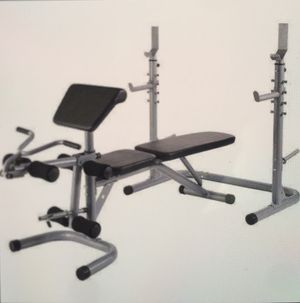 WORKOUT STATION ADJUSTABLE OLYMPIC WORKOUT BENCH WITH SQUAT RACK for Sale in Los Angeles, CA
