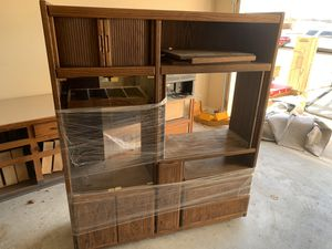 Solid oak entertainment center for Sale in Claremore, OK