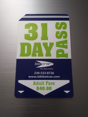 31 day bus pass for lee county buses for Sale in North Fort Myers, FL