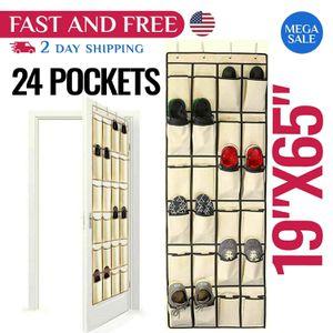 Over The Door Shoe Organizer Rack Hanging Storage Holder Hanger Bag Closet Sneakers Room Organizing for Sale in Temple City, CA