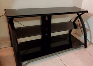 Brand New TV Stand - Calico Futura Black Glass - Sleek Modern Design for Sale in Westminster, CA