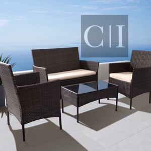 Brand New! 4 Piece Brown Outdoor Balcony Furniture Set for Sale in Orlando, FL