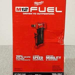 Milwaukee M12 FUEL 1/4 Angled Die Grinder (TOOL ONLY) for Sale in Philadelphia, PA