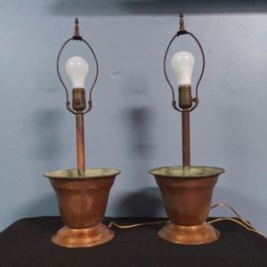 Copper Flowerpot Electric Lamps for Sale in Indianapolis, IN