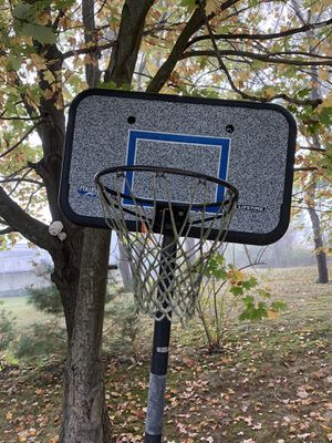 Lifetime adjustable basketball hoop with weighted blocks. Buyer must safely disassemble and remove. for Sale in Danbury, CT