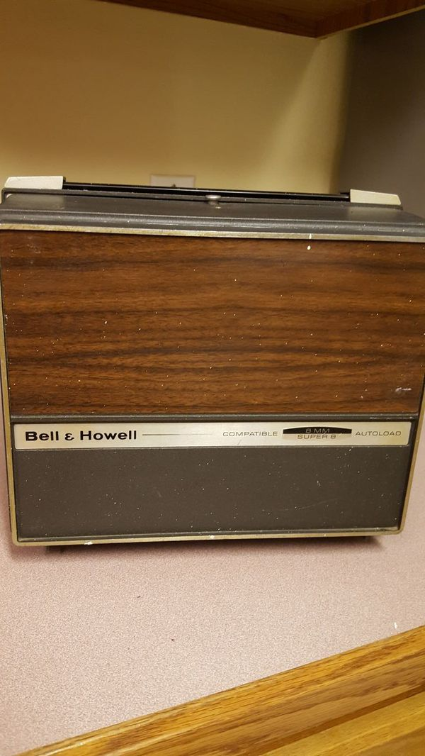 vintage bell & howell 8mm/super 8 movie projector