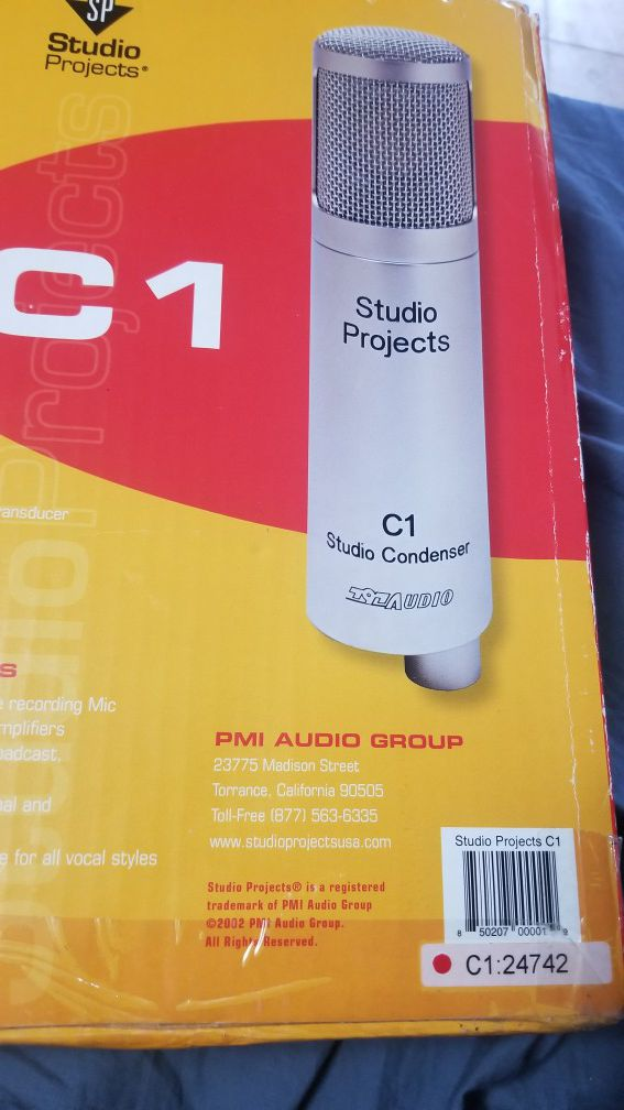 Studio Projects C1 single diaphragm condenser microphone