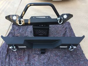 Jeep Wrangler TJ front and rear bumper for Sale in Scottsdale, AZ
