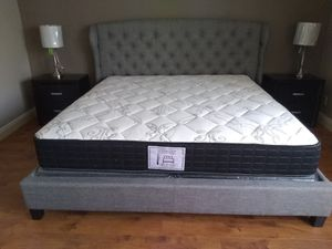 New BLACK extra thick King mattress and box springs ONLY for Sale in Las Vegas, NV