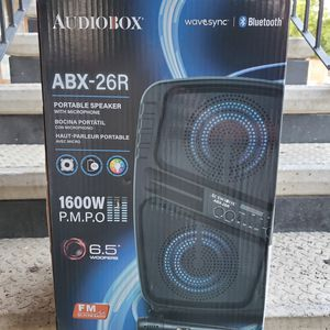 "Audiobox Abx-26r Rechargeable Dual 6.5"" Bluetooth Speaker With Lights for Sale in Waxahachie, TX"