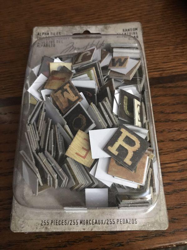 Jim Holtz alpha tiles