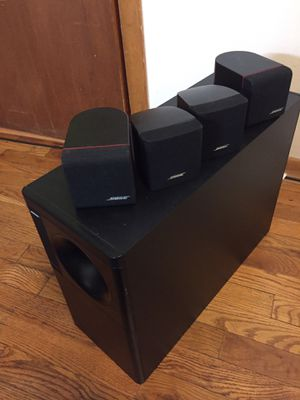 Bose Acoustmass 5 series ll Directs/Reflecting speaker systems with 4 cube Bose speakers for Sale in Columbus, OH
