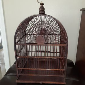 Unique Solid Wood Bird Cage for Sale in Fort Lauderdale, FL