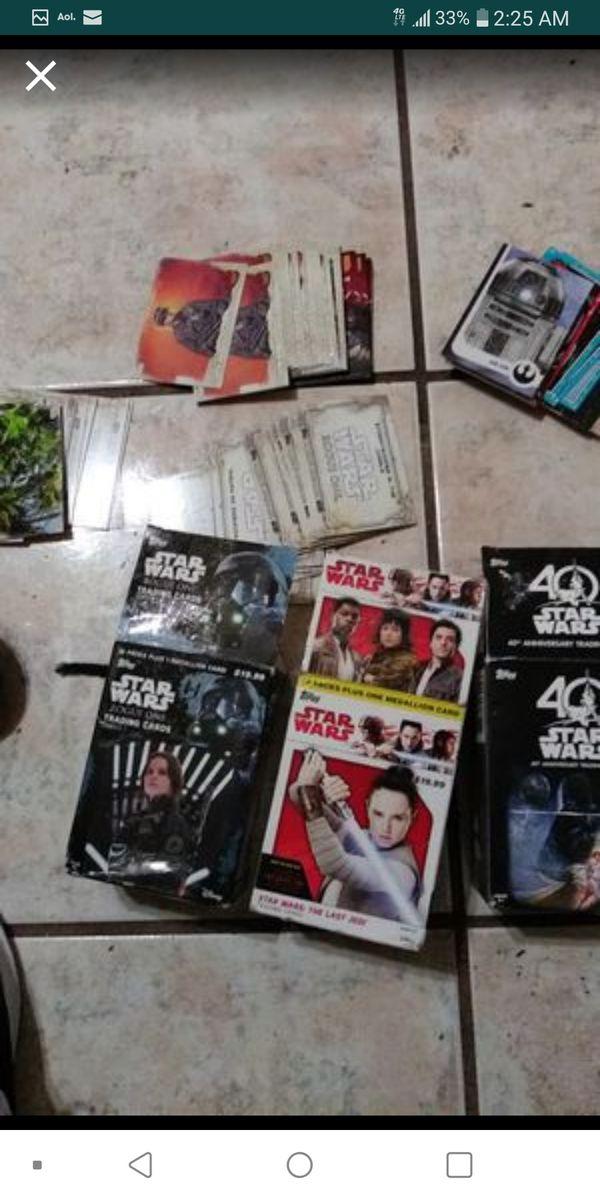 Hundreds of Star Wars cards tops cards
