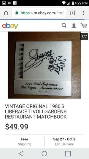 Antique matchbook firm price i have two for 80 for Sale in Knoxville, TN