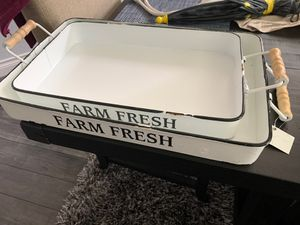 "2 ""farm fresh"" home decor trays for Sale in Pearland, TX"