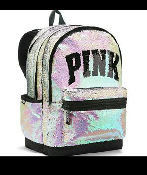 VS PINK REVERSIBLE SEQUIN BLING CAMPUS BACKPACK for Sale in Lake Wales, FL